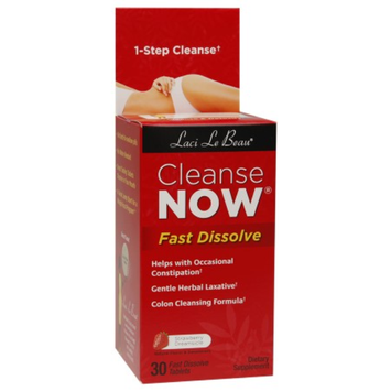 Laci Le Beau Cleanse Now Fast Dissolve, Tablets, Strawberry Dreamsicle, 30 ea