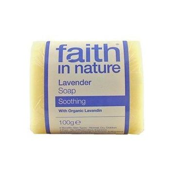 Faith In Nature Pure Vegetable Soap. Lavender. 100g Bar