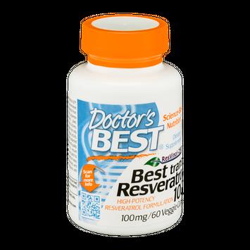 Doctor's BEST Best Trans-Resveratrol 100mg Dietary Supplement Veggie Caps - 60 CT