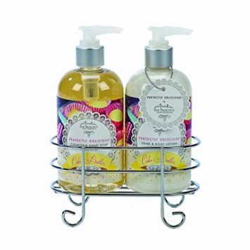 San Francisco Soap Co. Cake Batter Hand Soap and Cake Batter Hand & Body Shea Butter Lotion Caddy Set 12 OZ each
