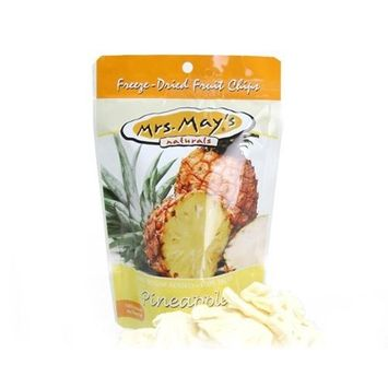 Mrs Mays Mrs. May's FREEZE DRIED Pineapple Fruit Chips box of 36