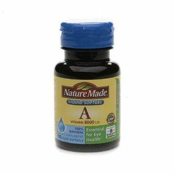 Nature Made Vitamin A, 8000 IU, Liquid Softgels 100