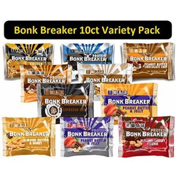 Bonk Breaker Energy Protein Bar - Variety Pack (10 count) 1 of each Flavor