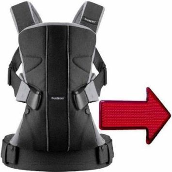 Baby Bjorn - Baby Carrier One with LED Light - Cotton Black Silver