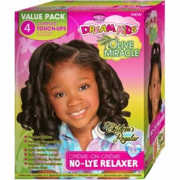 African Pride Dream Kids Olive Miracle Children's Regular Creme-On-Creme No-Lye Relaxer