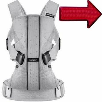 Baby Bjorn 0930004USK1 Baby Carrier One Air - Silver with Safety Reflector Light