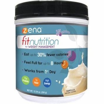 Zena Fit Nutrition for Weight Management Vanilla Powder Dietary Supplement, 12.34 oz