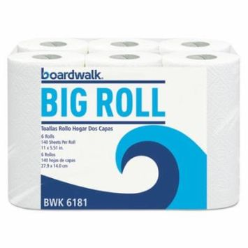 Boardwalk Household Perforated Paper Towel Rolls, 2-Ply, White, 5.51x11, 140/Roll, 24/Ctn BWK6181CT