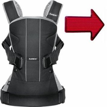 Baby Bjorn 093065USKT Baby Carrier One With Safety Reflector - Black Silver