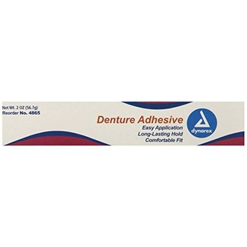 Dynarex Denture Adhesive, 2-Ounce, 72 Count