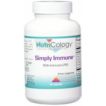 Nutricology Simply Immune Supplement, 60 Count