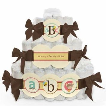 Baby Diaper Cake - A is for Alphabet - 3 Tier