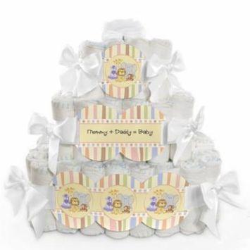 Baby Diaper Cake - Zoo Crew - 3 Tier