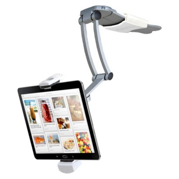 CTA Digital CTA iPad and Tablet 2-in-1 Kitchen Mount Stand - Silver (PAD-KMS)