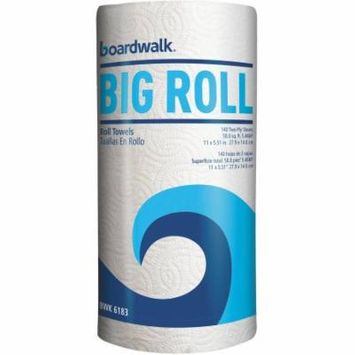 Boardwalk 2-Ply Big Roll Paper Towels, White, 140 sheets, 12 count