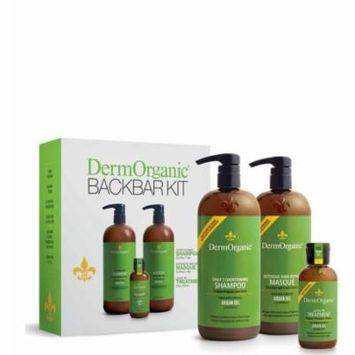 DERMORGANIC BACKBAR KIT-SHAMPOO,MASQUE & OIL - 3 PC SET
