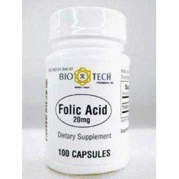 Bio-Tech, Folic Acid 20 mg 100 caps