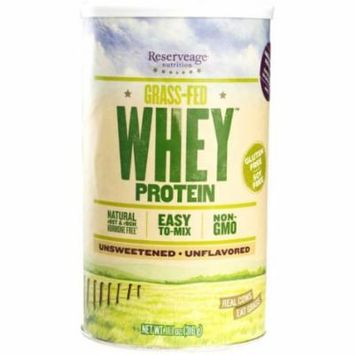 Reserveage - Grass Fed Whey Protein, Minimally Processed with High Biological Value, Unflavored, 12 Servings