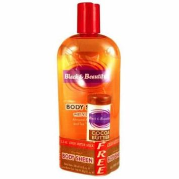 Black & Beautiful Body Sheen Lotion with Bonus 11.8 oz. (Pack of 2)