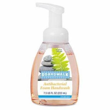 Boardwalk® - Antibacterial Foam Hand Soap, Fruity, 7.5 oz Pump Bottle, 6 per Carton - Sold As 1 Carton - Kills germs on hands w