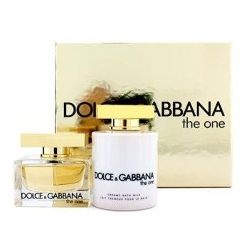 Dolce Gabbana The One Coffret: Eau De Parfum Spray + Creamy Bath Milk