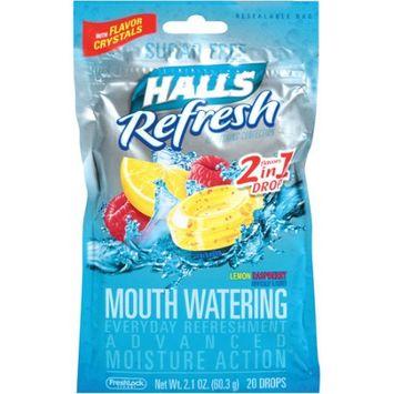 HALLS Refresh Sugar Free Lemon Raspberry Candy