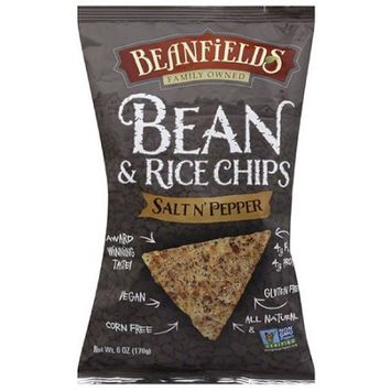 Beanfields Salt n' Pepper Bean & Rice Chips, 6 oz, (Pack of 12)