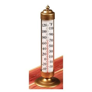 WEEMS and PLATH/CONANT BRASS Conant Custom Brass Model T-21 Vermont Antiqued Brass Deck Thermometer