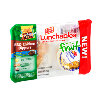 Lunchables Oscar Mayer with Fruit and BBQ Chicken Dippers