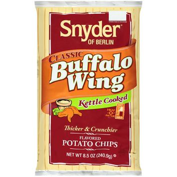 Snyder of Berlin Classic Buffalo Wing Kettle Cooked Potato Chips, 8.5 oz