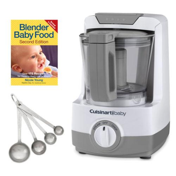 Cuisinart BFM-1000 Baby Food Maker and Bottle Warmer with Baby Recipe Book and 4