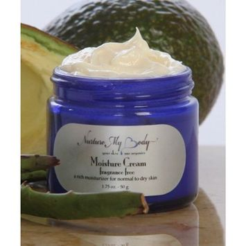 ORGANIC Energizing Moisture Cream by Nurture My Body - Fragrance Free - Best for Normal to Dry and Sensitive Skin. 100% All Natural. Satisfaction GUARANTEED!