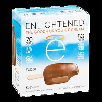 Enlightened The Good-For-You Ice Cream Low Fat Ice Cream Bars Fudge - 4 CT
