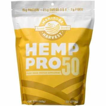 Manitoba Harvest Hemp Pro 50, Plant Based Protein Supplement, 32 OZ