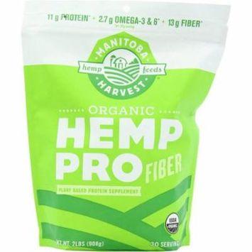 Manitoba Harvest Hemp Pro Fiber, Plant Based Protein Supplement, Organic, 32 OZ