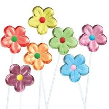 Twinkle Candy Flower Twinkle Pops Assorted 7 Flavors (Pack of 120)