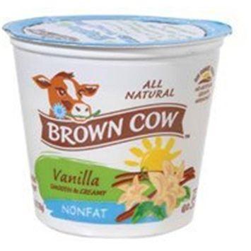BCWEST Brown Cow Low Fat Vanilla Yogurt, Size: 32 Oz (Pack of 6)