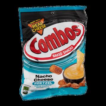 Combos Baked Snacks Nacho Cheese Pretzel