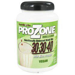 Nutribiotic - ProZone Vegan Nutritionally Balanced Drink Mix with Rice Protein Vanilla Bean - 22.5 oz.