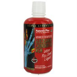 Nature's Plus - Triple Strength Glucosamine Chondroitin MSM Mixed Berry - 30 oz.