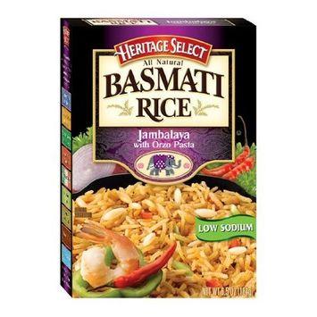 Heritage Select Basmati Rice, Jambalaya with Orzo Pasta, 6.5-Ounce Boxes (Pack of 12)