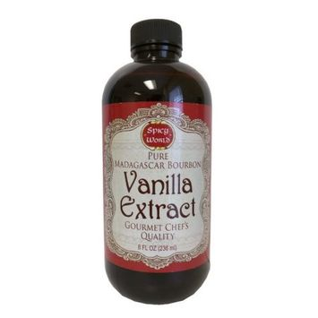 Spicy World Madagascar Bourbon Pure Vanilla Extract 8 Ounce - One Month Cold Extraction Process! No Heat or Pressure Used!ï ½ï ½ï ½