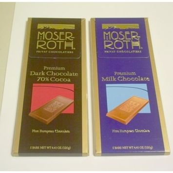 Chocolate Bars Moser Roth Privat Chocolatiers European Chocolate, Premium Dark, 4.4 Ounce