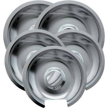 Range Kleen GE HP Drip Pans 2-pk. - Chrome (6