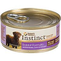 ture's Variety Instinct Canned Dog Food, Rabbit, 5.5 oz.