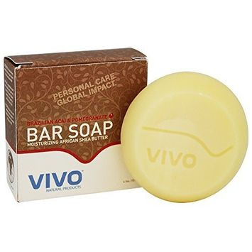 Vivo Natural Products Brazilian Acai and Pomegranate Bar Soap 4.50 Ounces