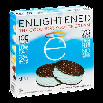 Enlightened Ice Cream Sandwiches Mint - 4 CT