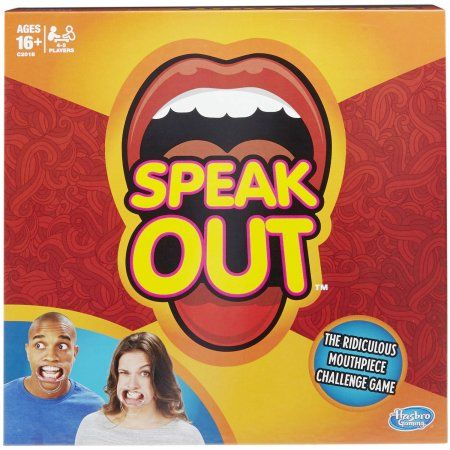 Hasbro Speak Out Mouthpiece Challenge Game