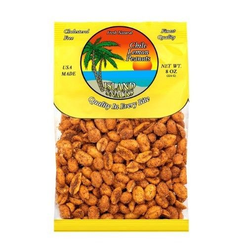 Island Snacks Peanuts, Chile, 7.5-Ounce (Pack of 6)