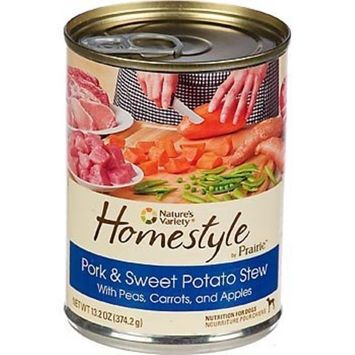 Nature's Variety Homestyle by Prairie Pork & Sweet Potato Stew Canned Dog Food, Case of 12